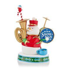 One Snowman Band - 2013 Hallmark Ornament - God Rest Ye Merry Gentlemen - NIB #Hallmark #Snowman #Christmas #HallmarkOrnament