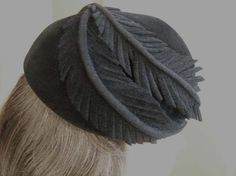 I need to keep this decoration technique in mind.    Vintage Beret by Don Anderson Black Velvet by FlanneryCrane, $36.00