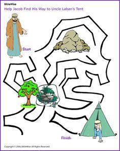 Maze, Jacob and Laban - Kids Korner - BibleWise