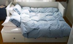 Divan-lit HEMNES transformé en lit double