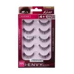 iEnvy Au Naturale 01 Multi Pack KPEM08  - Color Black - Strip Natural Style - Multi Pack Eyelashes
