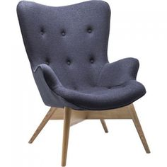 Kare Design - Angels Wings ECO Fauteuil - Donkergrijs