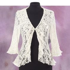 Ruffles and Lace Jacket - New Age & Spiritual Gifts at Pyramid Collection