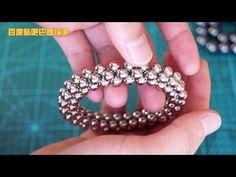 TUTORIAL 4-ring flexible tube hoop ( Zen Magnets, Neoballs, Buckyballs, Nanodots, Neocube) - YouTube