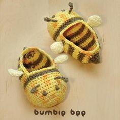Bumble Bee Baby Booties Crochet Pattern