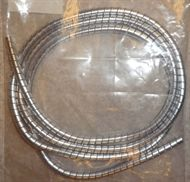 ★Wirehöljeskydd spiral, silver - Skydda dina wirehöljen - 80's style. / EHR Motor