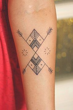 Geometric Tattoo On Arm - We Love Tattoos