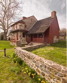 Gideon Gilpin House, a very early frame house (with stone addition), was built by an English Quaker.