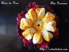 Vídeo aula Flor Graciosa - By Desi Winters http://www.artesdadesi.com/2014/03/video-aula-flor-graciosa.html