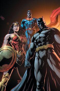 Wonder Woman, Superman & Batman (Trinity variant cover) Art by Jason Fabok Marvel Dc Comics, Dc Comics Superheroes, Dc Comics Characters, Dc Comics Art, Rogue Comics, Comic Art, Comic Manga, Batman Wonder Woman, Batman Vs Superman