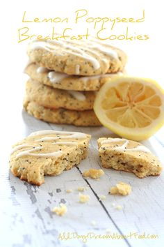 Lemon Poppyseed Breakfast Cookies via @dreamaboutfood