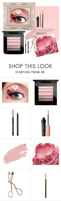 """""""Pop of Pink"""" by imannie ❤ liked on Polyvore featuring beauty, MAC Cosmetics, Yves Saint Laurent, Benefit, Jane Iredale, Pink Martini, Charlotte Tilbury, Tom Ford, Pink and fun"""