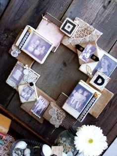 504 Main by Holly Lefevre: DIY! Burlap and Canvas Family Heirloom Wreath