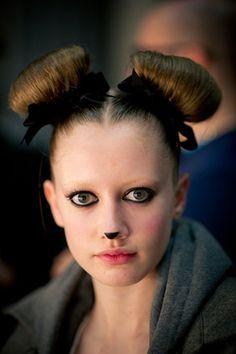 Easy dog makeup-hair