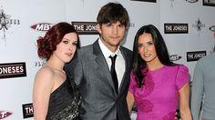 "Rumer Willis on Ashton Kutcher dating her mom Demi Moore: ""It was definitely weird for a minute."""