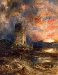 Thomas Moran Sunset on the Moor art painting for sale; Shop your favorite Thomas Moran Sunset on the Moor painting on canvas or frame at discount price. Thomas Moran, Art Thomas, Landscape Art, Landscape Paintings, Western Landscape, Edward Moran, Munier, August Sander, Albert Bierstadt