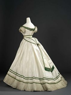 No note on the website about where this one is from, but it looks like late 1860's from the belt and shape of the skirt.