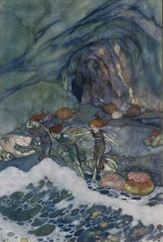 Prospero: And ye that on the sands with printless foot/Do chase the ebbing Neptune - Shakespear's Comedy of The Tempest, 1908