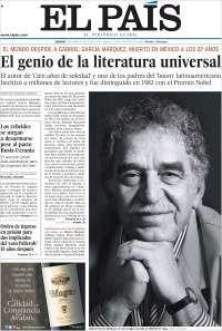 El País: El Genio de la literatura Universal fallece en México.