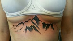 Newest addition! Different take on a #sternumtattoo. Colorado mountains.