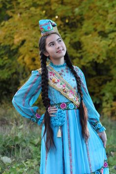 Tatar lady in traditional clothes