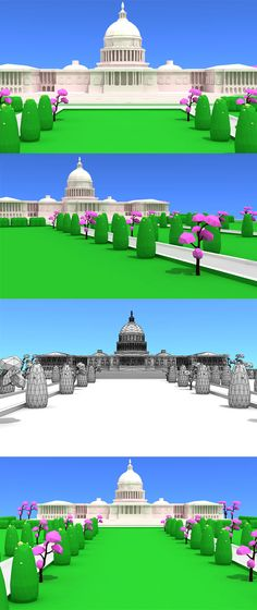Washington DC Low Poly Model. Fully customizable low-poly 3D model. #3D #3DModel #3DDesign #Lowpoly #3dcomic #VR #AR #art #cartoon #creative #environment #MazeTree #movie #product #tree #WashingtonDc Low Poly 3d Models, Lighting Setups, 3ds Max, 3d Design, Vr, Washington Dc, Environment, Movie, Cartoon