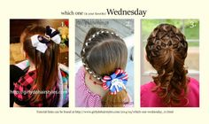 Girly Do Hairstyles: By Jenn: Which One Wednesday
