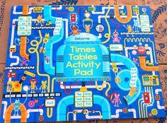 Călători printre cărți: Times tables activity pad