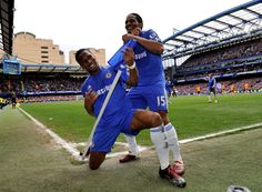 ~ Didier Drogba and Florent Malouda band celebration on Chelsea FC HIGH QUALITY ~ Chelsea Fc News, Chelsea Champions, Football Celebrations, Chelsea Players, Premier League Champions, Chelsea Football, Stamford Bridge, Sports Wallpapers, Soccer