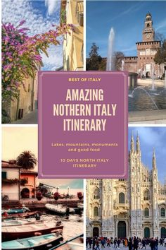 This Northern Italy itinerary will take you along scenic villages, gorgeous lakes, and many of the most amazing places in Italy. Goof food and lovely scenery are two ingredients of a great European itinerary. Road Trip Europe, Road Trips, Best Of Italy, Italy Travel Tips, Places In Italy, Northern Italy, Italy Vacation, Best Cities, Lakes