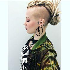 #dreads #dreadlocks #undercut #dreadhawk #mohawk #mohawkgirl
