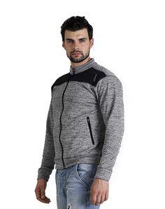 Men's Grey Black Jacket – Atheno India