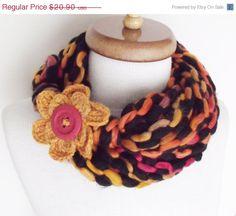 ON SALE Infinity Loop Crochet Scarf Women by knittingshop on Etsy