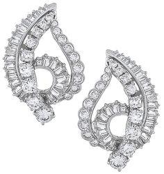 Vintage 5.00ct Diamond Earrings