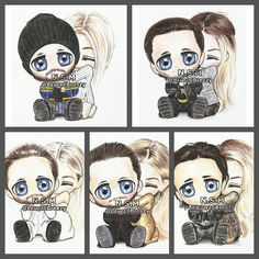 ♡Jared Leto & Margot Robbie♡ Jargot♥ Fan art by lauracbreezy.tumblr.com
