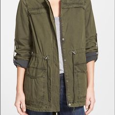 Military Utility Jacket This is a very nice army green jacket that's super versatile. It's a size small but can fit a medium or even a large. :) *not actually forever 21* Forever 21 Jackets & Coats Utility Jackets