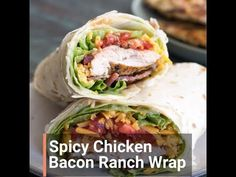 This Spicy Chicken Bacon Ranch Wrap is the perfect quick and easy meal packed with flavor! Chicken Bacon Ranch Wrap, Buffalo Chicken Lettuce Wraps, Bacon Wrapped Chicken, Chicken Wraps, Spicy Chicken Wrap, Turkey Wrap Recipes, Vegetarian Steak, Low Carb Wraps, Comida Keto