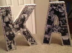DIY Bejeweled Photo Collage Letters | Easy Teen Room Decor Ideas for Girls