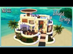 In this The Sims 4 speed build I am building a modern beach mansion with the Island Living expansion pack. I built this modern dream beach house right at the. Lotes The Sims 4, Sims 1, Sims 4 Challenges, Beach Mansion, Pokemon Oc, Casas The Sims 4, Dream Beach Houses, Sims 4 Build, Sims 4 Houses