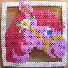Perler fuse bead horse design