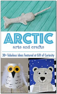 Arctic animal arts and crafts | 30+ fabulous ideas for kids to make polar bears, orcas, walruses, Arctic foxes, snowy owls, narwhals, puffins, caribou, harp seals and beluga whales || Gift of Curiosity