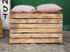 Eine große Obstkiste / Obstkisten / Holzkisten / Truhe / Truhen / Holztruhen   eBay