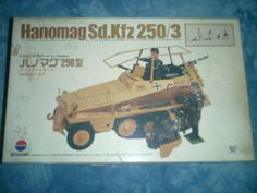 1970s Nitto Kagaku 1-35 Scale Hanomag Sd Kfz250-3 Model by MyHillbillyWays on Etsy