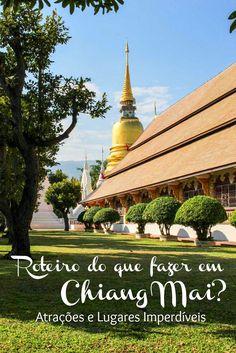 O que fazer em Chiang Mai? Atrações, onde ficar e os nossos lugares preferidos! Como planejar sua viagem para Chiang Mai na Tailândia. Melhores lugares para ficar, o que fazer em Chiang Mai, dicas de viagem para curtir a cultura, a natureza e a comida da cidade.