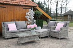 Loungebank - Lounge - Tuinbank - Loungeset - Set - Tuinset - Wicker - Fonteyn