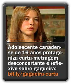 Adolescente canadense de 16 anos protagoniza curta-metragem desconcertante e reflexivo sobre gagueira. Shortfilm, Teen, Nice
