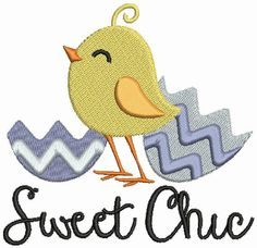 Sweet Chic Easter 4x4 Machine Embroidery Design