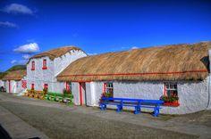 Doagh Famine Village, Doagh Island, Inishowen, Co. Donegal, Ireland.