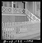Galveston, Texas. Picket fence.  Vachon, John, 1914-1975, photographer.    CREATED/PUBLISHED  1943 May. Galveston Texas, Library Of Congress, Fence, Outdoor Structures, American, Photos, Silver, Prints, Blue Prints