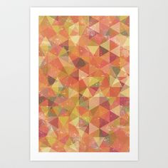 Triangle Pattern III Art Print by Zeke Tucker - $17.68